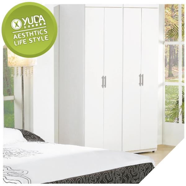 衣櫃【YUDA】亞斯2尺白色雙吊開門 衣櫃/衣櫥 J8F 074-1