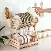 瀝水碗架放餐具筷子多層整理架廚房置物架碗碟臺面【奇妙商舖】