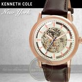 Kenneth Cole國際品牌型男鏤空機械時尚腕錶KC10026783公司貨/禮物/精品/紳士