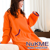 棉花田【NuKME】時尚多功能創意袖毯-多色可選(180cm)亮桔色
