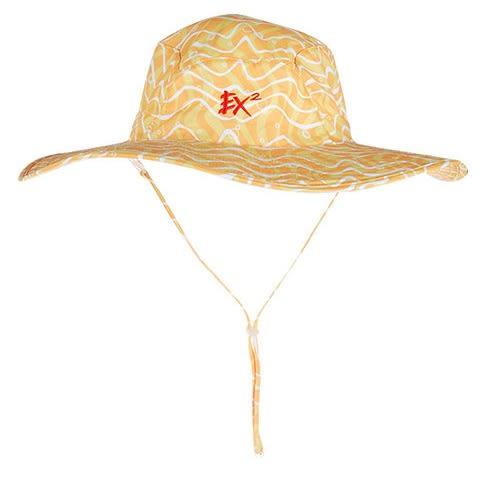 EX2 女快乾印花寬沿帽 UPF50+『黃』361343 遮陽帽|棒球帽|遮頸帽|抗UV|防曬