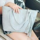 托特包包包女潮韓國校園學生手提包大容量簡約單肩PU 蘿莉小腳ㄚ