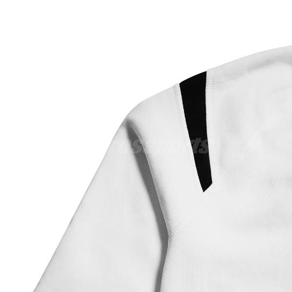Nike 長袖T恤 NSW Swoosh Fleece Crew 白 黑 女款 復古 大勾勾 【PUMP306】 BV3934-100