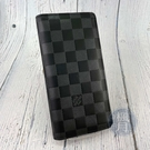 BRAND楓月 LOUIS VUITTON LV 路易威登 N60193 黑色 皮革 棋盤格 BRAZZA 對開長夾
