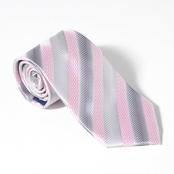 Roberta di Camerino 諾貝達雙色領帶-粉灰