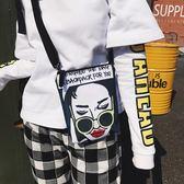 夏天森系小包包女新款潮 韓版 個性爆款學生斜跨包帆布原宿風斜背包【非凡】