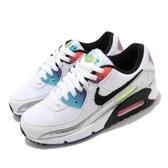 Nike 休閒鞋 Wmns Air Max 90 白 彩 女鞋 舒適 避震 簡約 運動鞋【ACS】 DC0835-101