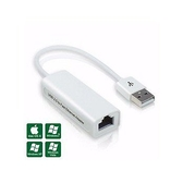 [富廉網] USB 2.0 轉 RJ-45 高速網路卡 - 支援 MAC 系統 10-LU10 USB 轉RJ45 網路卡