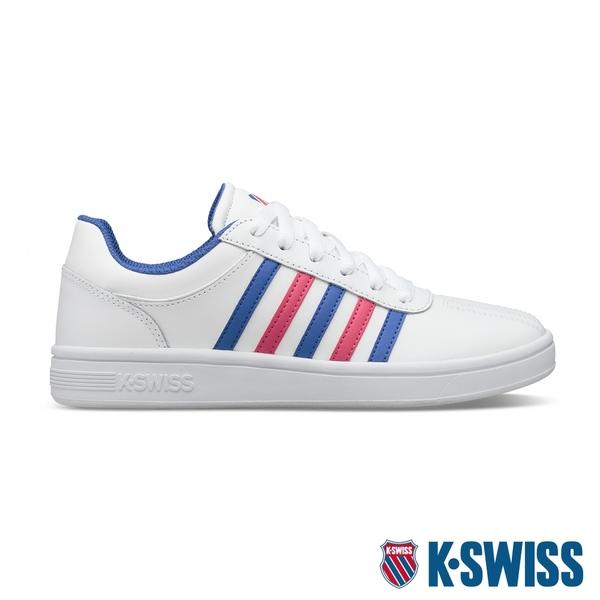 K-SWISS Court Chesterfield時尚運動鞋-女-白/藍/桃紅