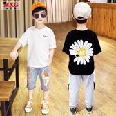 米西果小雛菊童裝男童短袖t恤純棉2020年夏季新款 兒童洋氣體恤潮 歐歐