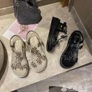 水鉆涼鞋女夏仙女風坡跟2020新款時尚鬆糕厚底網紅羅馬涼鞋ins潮 伊衫風尚