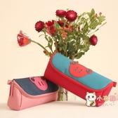 筆袋日韓簡約創意女生可愛高中初小學生兒童大容量多功能筆袋文具筆盒 快速出貨