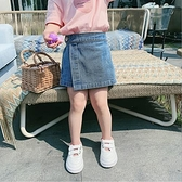 短褲 夏季女童牛仔時尚鬆緊腰褲裙