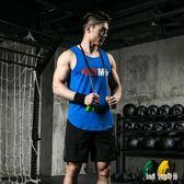 健身套裝男夏季跑步運動健身房訓練速干夏天男士背心短褲晨跑衣服 QG29364『bad boy時尚』