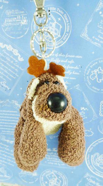【震撼精品百貨】日本日式精品_狗DOG~絨毛鎖圈-沙包狗-深咖啡