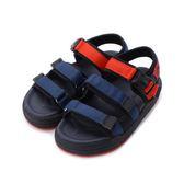 LOTTO 輕量三織帶涼鞋 藍紅 LT8AKS6386 中大童鞋 鞋全家福