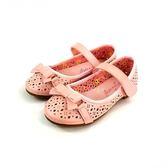 專櫃普萊米  鏤空雕紋 素色蝴蝶結  氣質公主鞋《7+1童鞋》C650粉色
