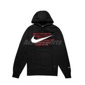 Nike 長袖T恤 NSW Swoosh Hoodie 黑 紅 男款 帽T 運動休閒 【ACS】 CJ4864-010