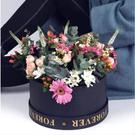 新款銅雀鏡pvc圓盒,永生花禮盒鮮花包裝...