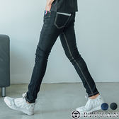 三色旗幟原色彈性牛仔褲【FYB601】OBIYUAN 韓版修身直筒丹寧褲 共2色