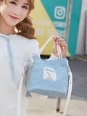帆布包單肩斜挎包女ins少女心日系可愛韓版手提袋簡約時尚小包包 【快速出貨】