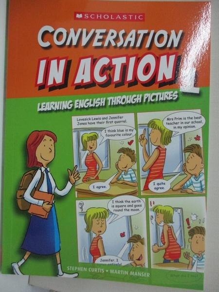 【書寶二手書T1/語言學習_HS6】Conversation in action : through pictures. 1_Stephen Curtis