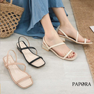 PAPORA顯瘦經典休閒細版跟鞋涼鞋KK7128黑色/粉色/米色