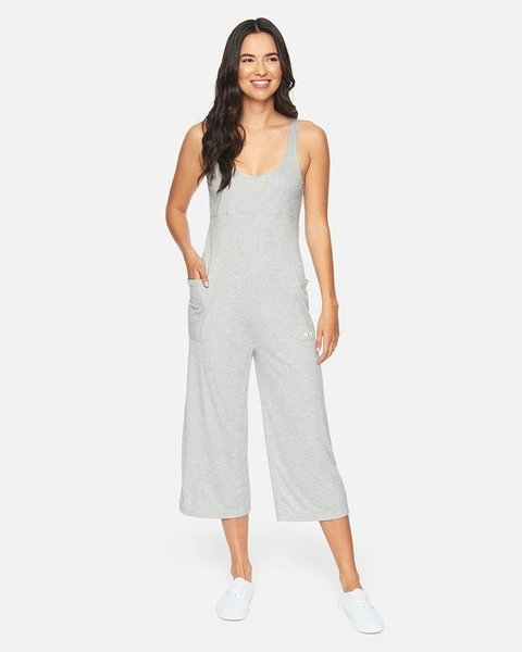 HURLEY|女 RIB JUMPSUIT BLACK 連身褲-(灰)