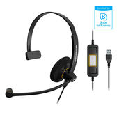 Sennheiser 聲海 SC 30 USB ML 單耳耳麥 Skype for Business 認證