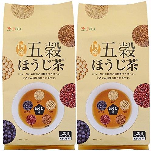 日本 JHA 日本製 國產五穀煎茶 無咖啡因 綠茶、大麦、黒大豆、赤小豆、大豆、玄米【小福部屋】