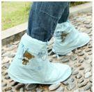 預購-男女鞋套防水雨天雨靴防雨鞋套防滑(高彈pvc卡通款大號42-44碼)
