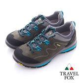 Travel Fox(女)放輕鬆 Vibram安全大底登山越野運動鞋 - 藍灰