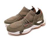 Reebok 慢跑鞋 DMX Fusion 綠 橘 軍綠 舒適緩震 襪套式 復古經典進化款 男鞋【ACS】 CN3898