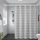衛生間浴簾防水布套裝浴室門簾加厚防霉簾子掛簾免打孔洗澡隔斷簾