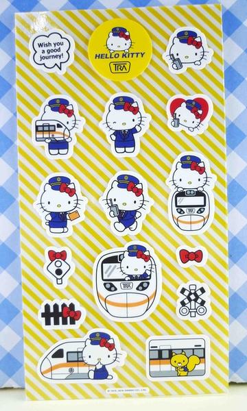【震撼精品百貨】Hello Kitty 凱蒂貓~KITTY貼紙-太魯閣站長HELLO黃
