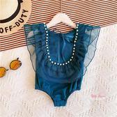 兒童泳衣 兒童泳裝女童夏裝2019新款女寶寶泳衣連身衣洋氣公主泳服潮1-3歲 2色