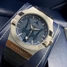 MASERATI瑪莎拉蒂男女通用錶42mm寶藍色錶面寶藍錶帶