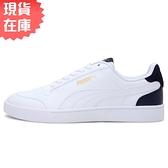 【現貨】PUMA SHUFFL 男鞋 女鞋 休閒 皮革 白【運動世界】30966805