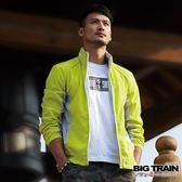 BIG TRAIN  男款配布防風外套-男-芥綠