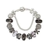 串珠手鍊-歐美時尚琉璃飾品黑色系列女配件73kc186【時尚巴黎】