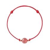 手繩閨蜜粉水晶轉運珠紅繩手鏈女