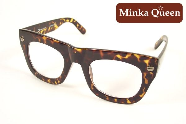 Minka Queen 咖啡色粗框(抗UV400)潮流必備個性百搭流行配光眼鏡