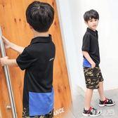 男童短袖T恤2019新款兒童polo衫半袖中大童夏裝韓版洋氣上衣潮裝 FR10007『俏美人大尺碼』