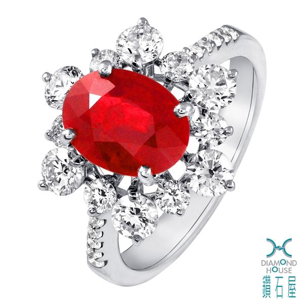 【鑽石屋】2.17克拉紅寶石戒指
