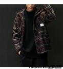 FINDSENSE品牌 秋冬款 新款 日本 男 復古 格子 高品質  寬鬆大碼
