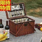 野餐籃 餐具組合-四人套組經典復古風格郊遊用品68e21[時尚巴黎]