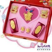 999.9黃金彌月音樂禮盒 聰明鼠五件組5分-GP00008-23-GXX
