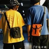 (快出)胸前包ins超火包土酷蹦迪胸前包嘻哈斜背包運動女手機包男休閒煙包小包
