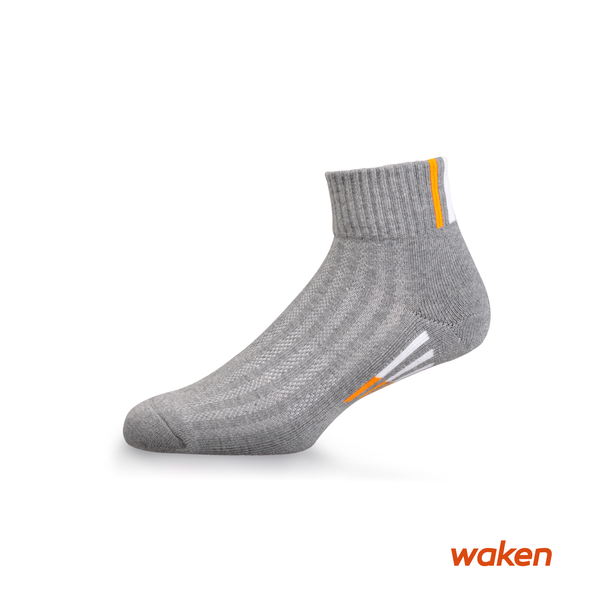 waken  精梳棉萊卡超厚毛巾底透氣短筒運動襪 / 襪子 / 男襪 女襪