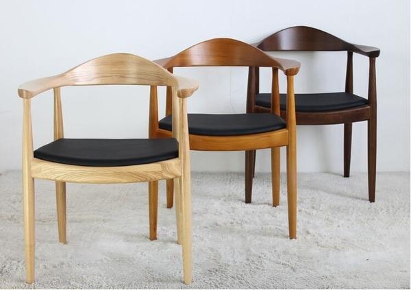 【南洋風休閒傢俱】設計單椅系列-大牛角椅  實木餐椅 扶手餐椅 皮餐椅 總統椅(517-1)